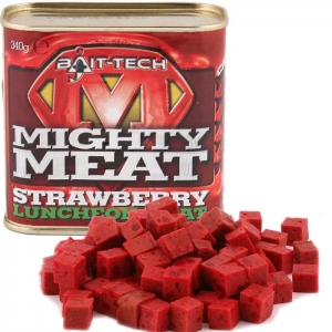 Mielonka haczykowa BAIT-TECH MIGHTY MEAT STRAWBERRY 340g